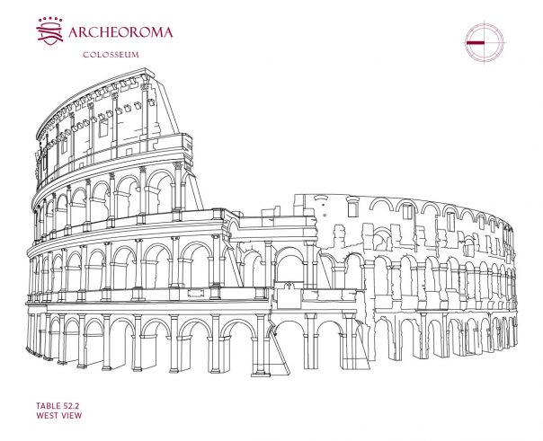 Architectural Relief of the West View of the Colosseum