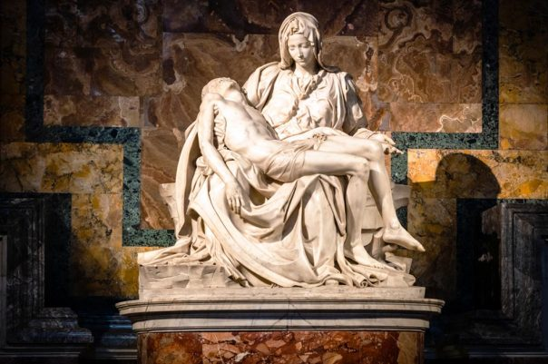 Pietà by Michelangelo: a trasure in the Basilica of Saint Peter in Rome