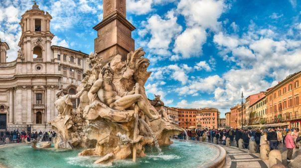 Fountain of the Four Rivers by Gian Lorenzo Bernini, Piazza Navona