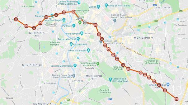 Line A Metro Rome