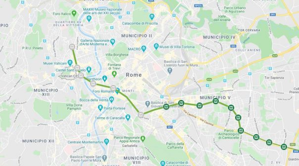 Rome Metro Line C: Map and Stations